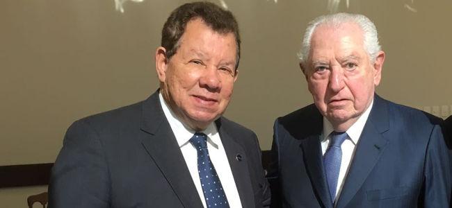 Vitor Fernandes e Abram Szajman, presidentes do Sincomercio e FecomercioSP, respectivamente
