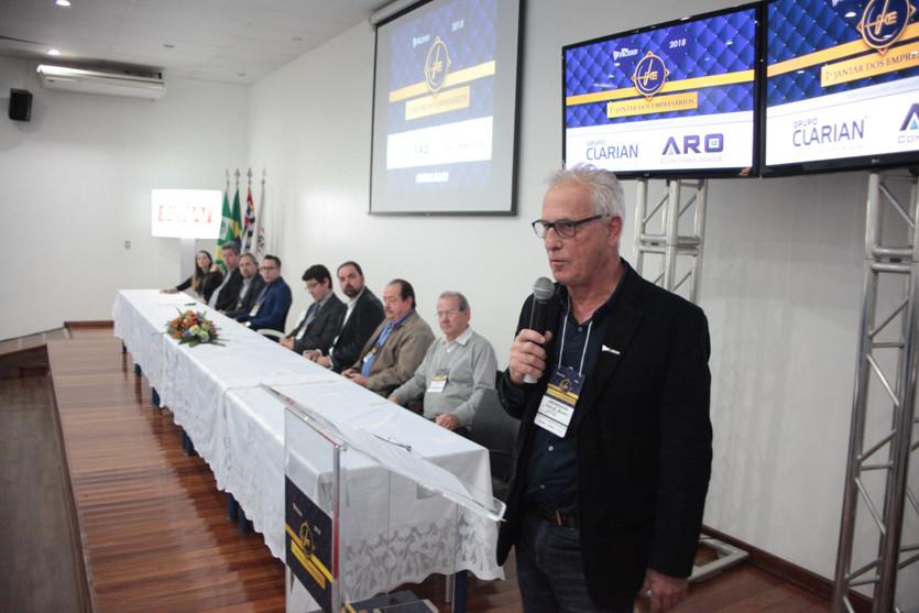Presidente da Acisb, Roberto Bonamin, durante lançamento do evento