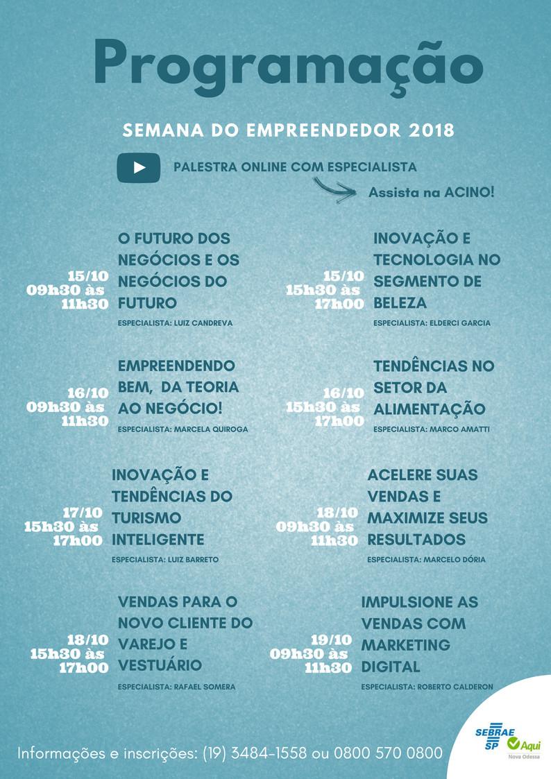 semana do empreendedor nova odessa 2018